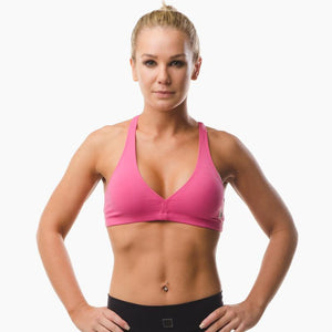 ZAAZEE Abi Racer-back Sports bra Hot Pink