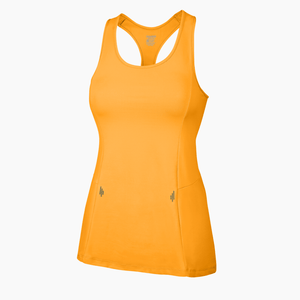 Load image into Gallery viewer, ZAAZEE Alana Racer-back Fitness Vest Brazen Orange