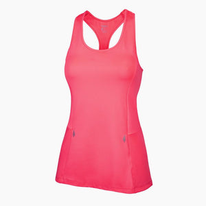 Load image into Gallery viewer, ZAAZEE Alana Racer-back Fitness Vest Neon Pink