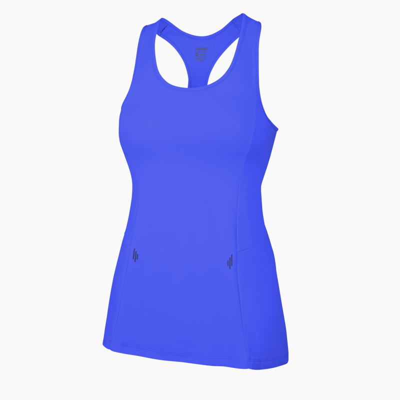 ZAAZEE Alana Racer-back Fitness Vest Strong Blue