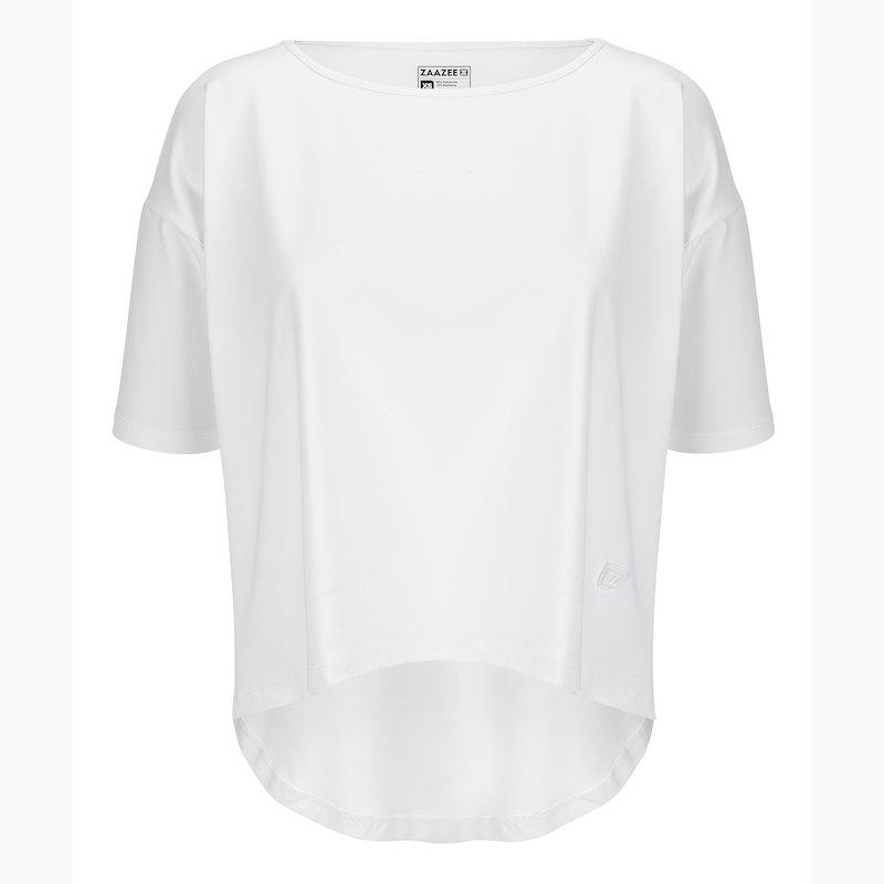 ZAAZEE Alyssa Half Sleeved Top Arctic White