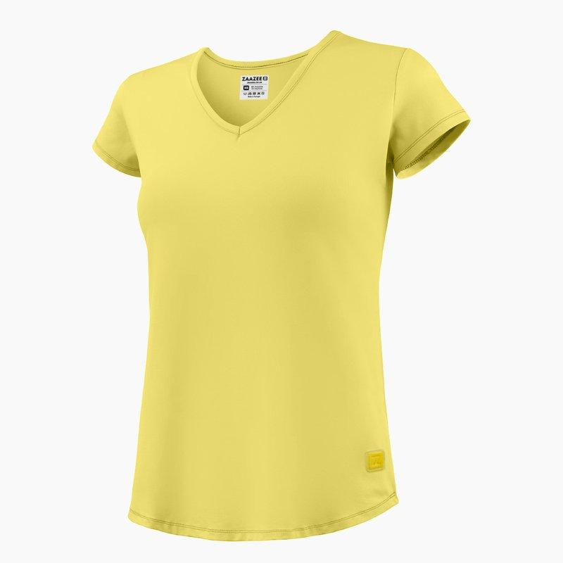 ZAAZEE Alyx V-Neck T-Shirt Limoncello Yellow