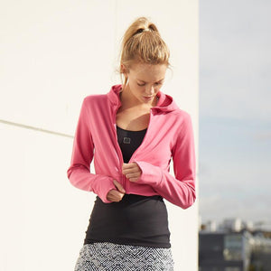 Load image into Gallery viewer, ZAAZEE Amelia Cropped Hoodie Hot Pink