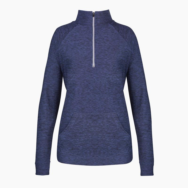 ZAAZEE Amy Zip Long Sleeved Half Zip Navy Marl