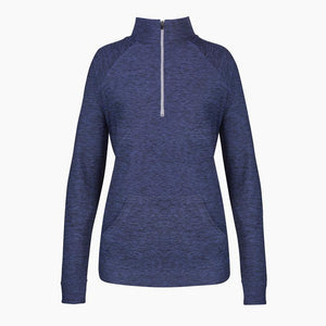 Load image into Gallery viewer, ZAAZEE Amy Zip Long Sleeved Half Zip Navy Marl
