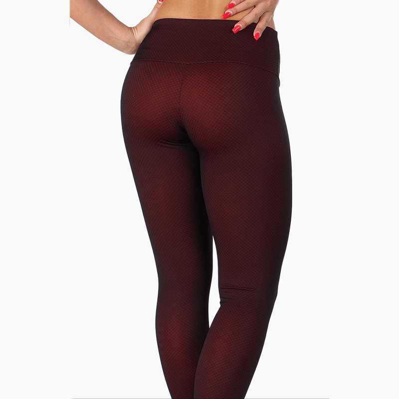 ZAAZEE Anais Full Length Legging Burgundy