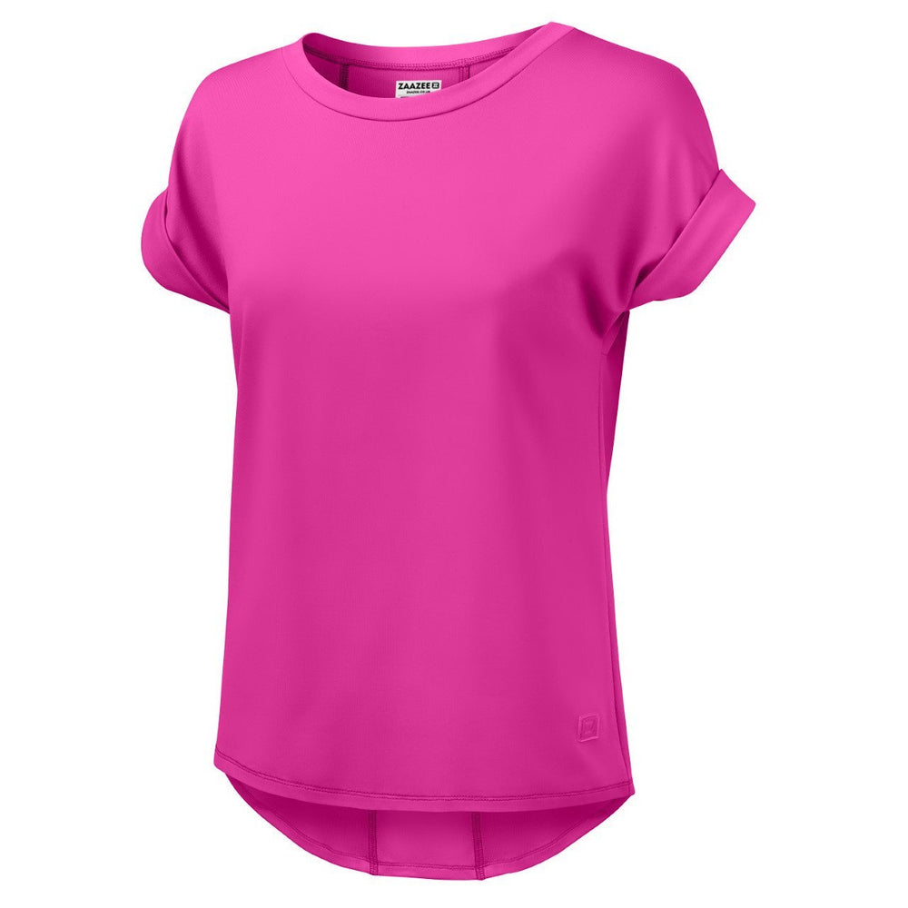 ZAAZEE Aria Luxury T-shirt Pop Pink