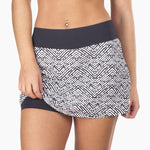 ZAAZEE Ashley II Fitness Skirt/Skort Black & White Textured