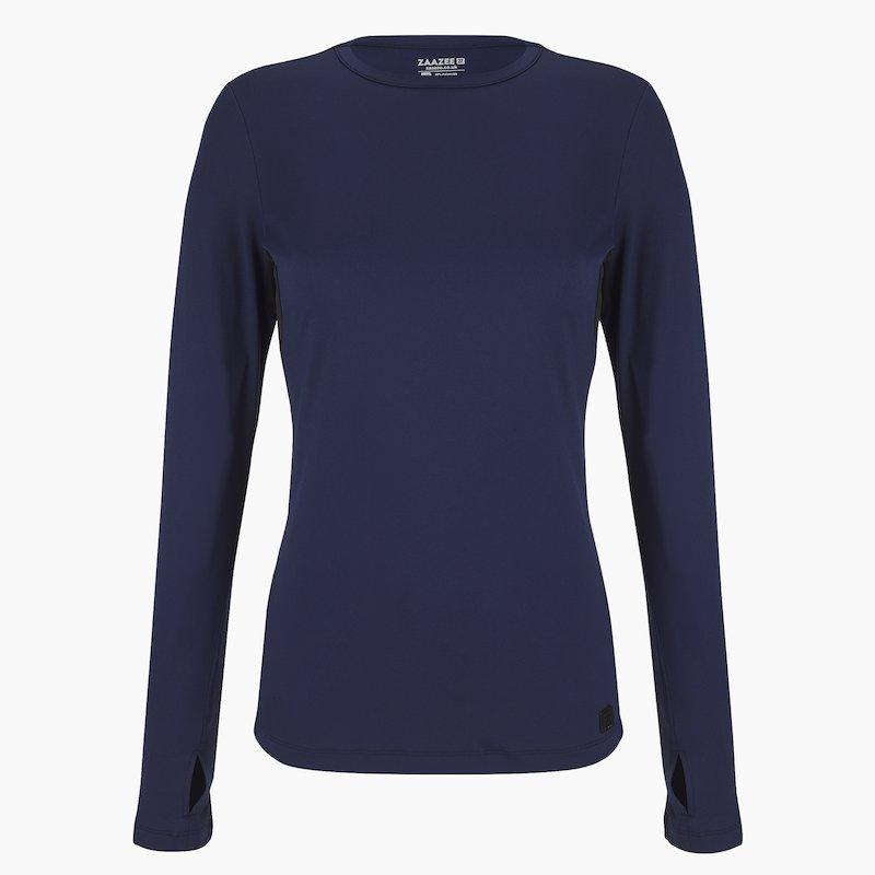 Load image into Gallery viewer, ZAAZEE Ayla Long Sleeved Top Midnight Blue