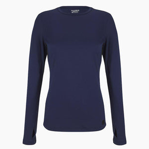 ZAAZEE Ayla Long Sleeved Top Midnight Blue