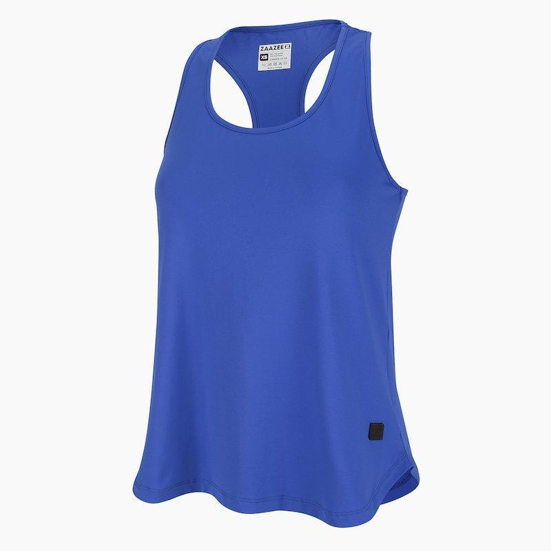 Load image into Gallery viewer, ZAAZEE Azura Racer-back Fitness Vest Strong Blue