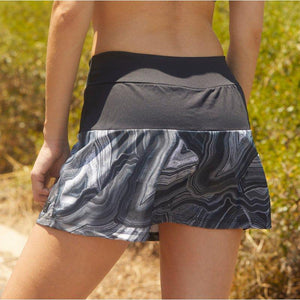 Load image into Gallery viewer, ZAAZEE Electra Fitness Skirt/Skort Grey Marble