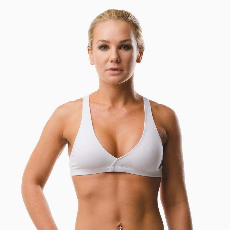 Load image into Gallery viewer, ZAAZEE Emi Cross-back Sports Bra Arctic White