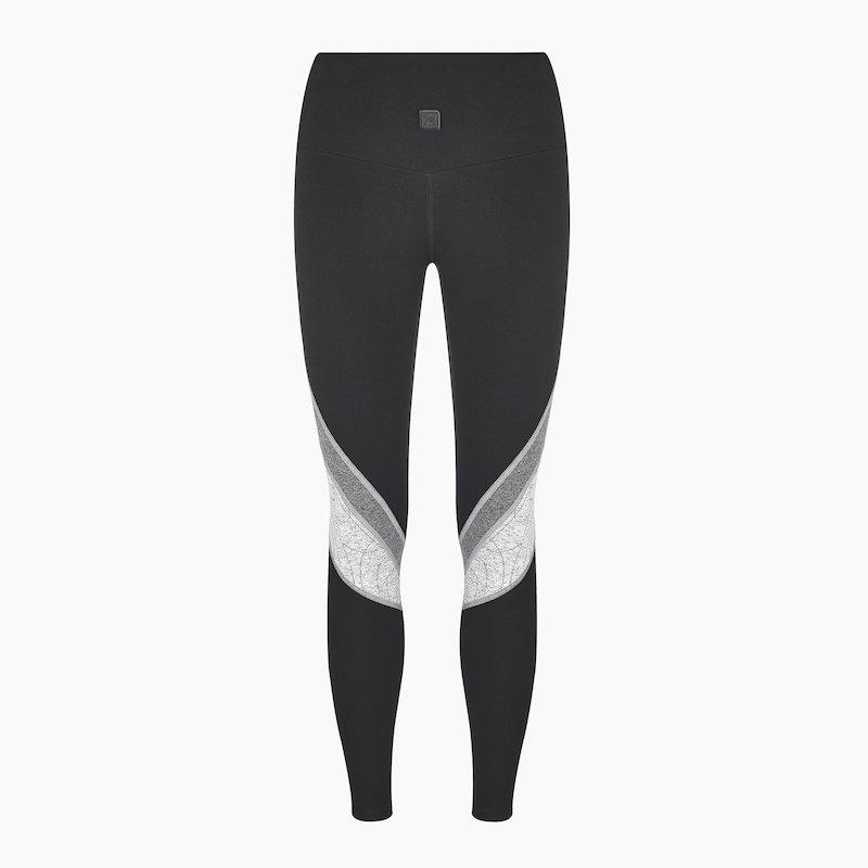 Load image into Gallery viewer, ZAAZEE Erica II Full Length Legging Jet Black / Grey Swirl