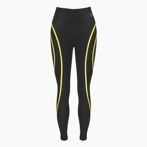 ZAAZEE Eve Full Length Legging Jet Black / Yellow