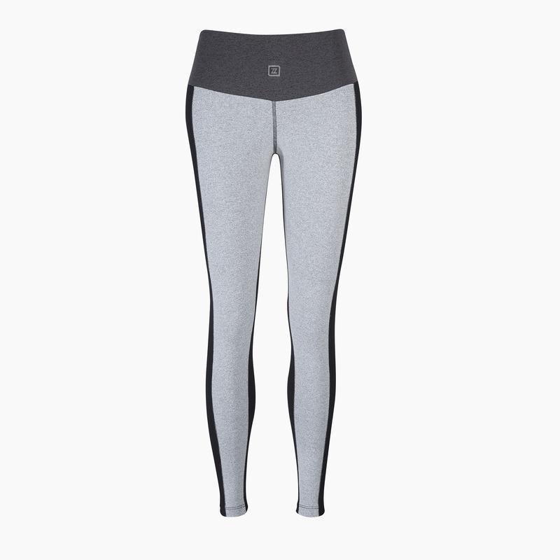 ZAAZEE Zane Full Length Legging Light Grey / Dark Grey / Jet Black