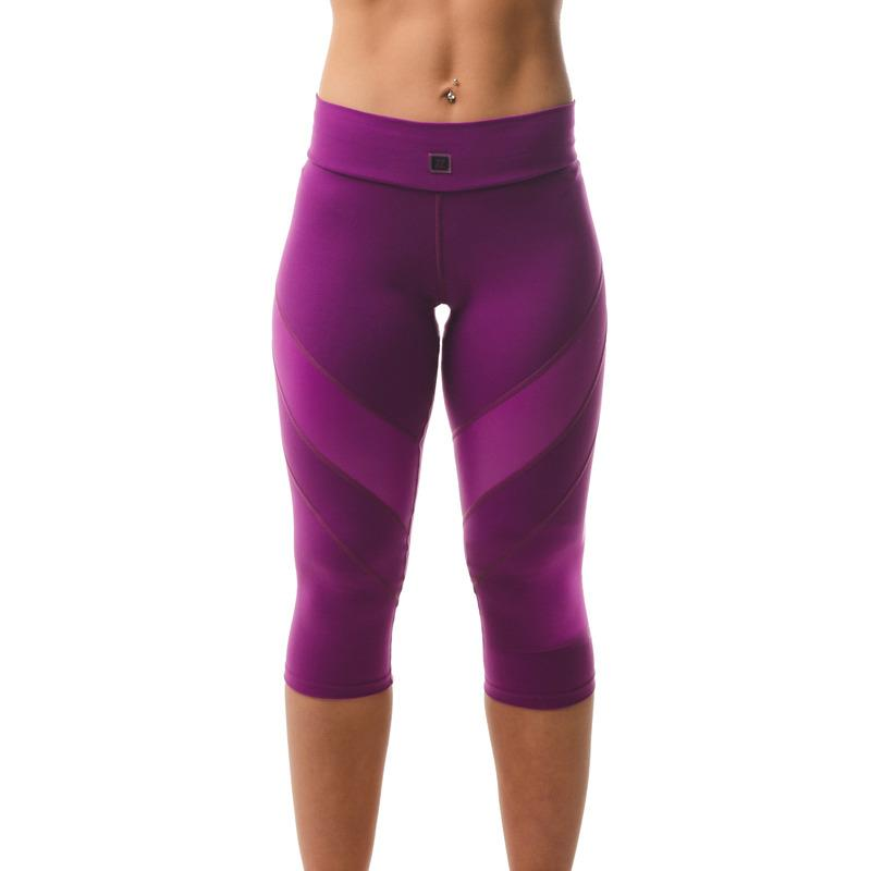 Load image into Gallery viewer, ZAAZEE Zara 3/4 Capri Gym Legging Deep Magenta