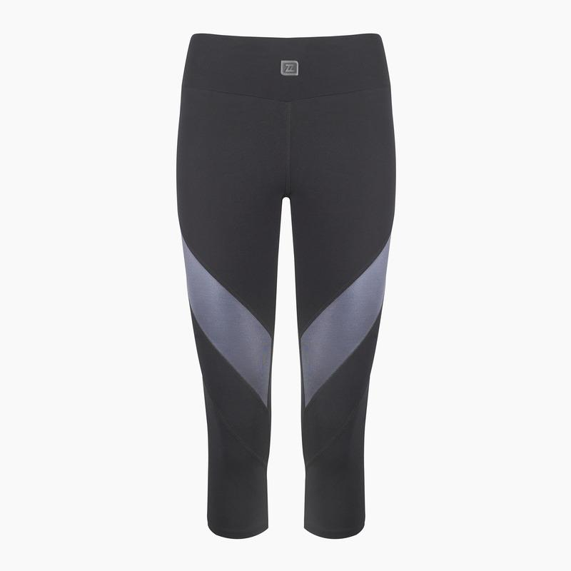 Load image into Gallery viewer, ZAAZEE Zara II 3/4 Capri Gym Legging Jet Black