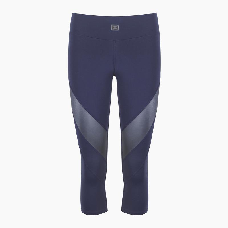 Load image into Gallery viewer, ZAAZEE Zara II 3/4 Capri Gym Legging Midnight Blue
