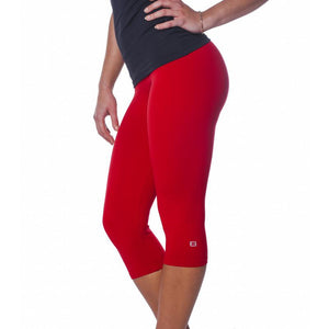 ZAAZEE Zavia 3/4 Capri Gym Legging Extreme Red