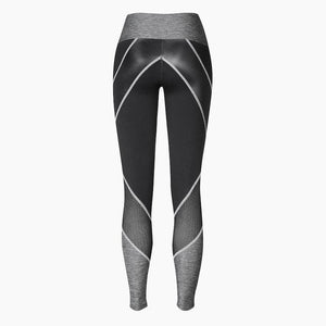 Load image into Gallery viewer, ZAAZEE Zelda Full Length Legging Jet Black / Anthracite Grey