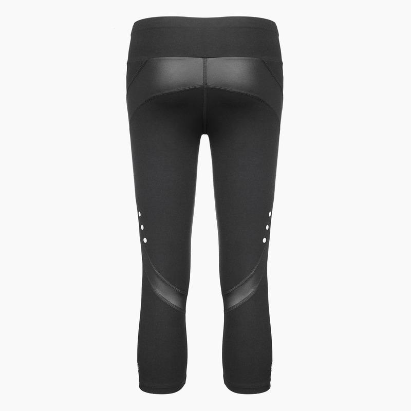 Load image into Gallery viewer, ZAAZEE Zella 3/4 Capri Gym Legging Jet Black