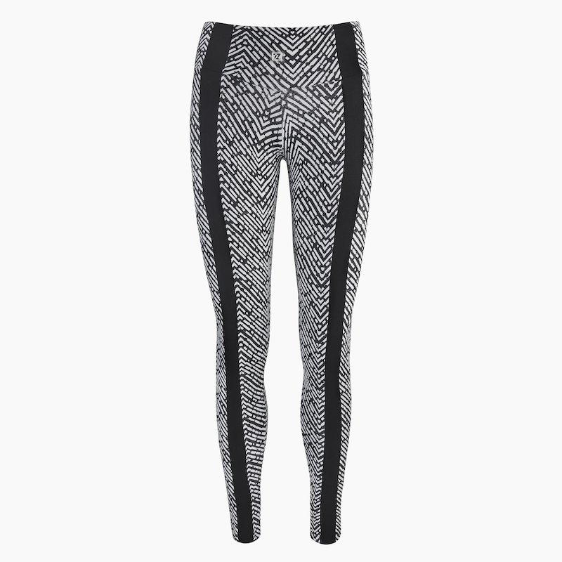 ZAAZEE Zena Full Length Legging Black & White Textured