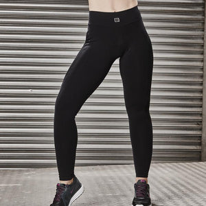 Load image into Gallery viewer, ZAAZEE Zoey Full Length Legging Jet Black