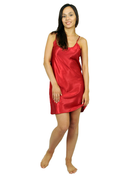 Women's Chemise, Satin with Belt