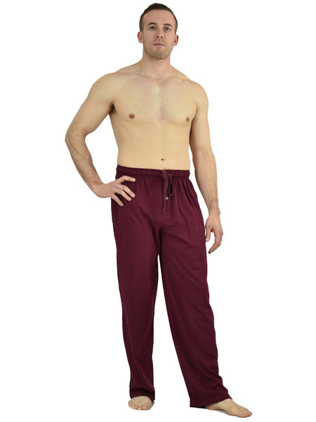 Men's Lounge Pants / Pajama Bottoms / Sleep Pants, 100% Cotton Knit
