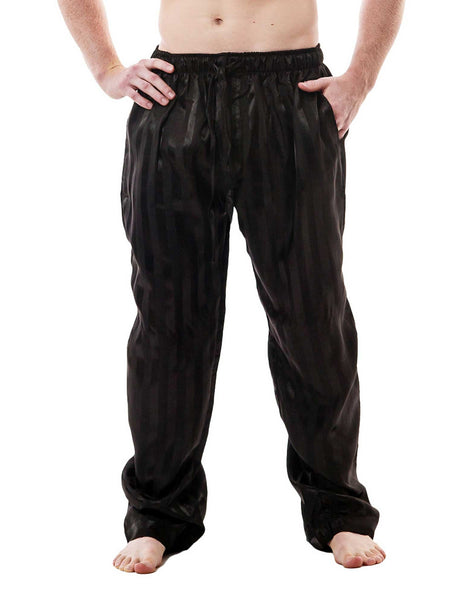 Men's Lounge Pants / Pajama Bottoms / Sleep Pants, Satin, Striped