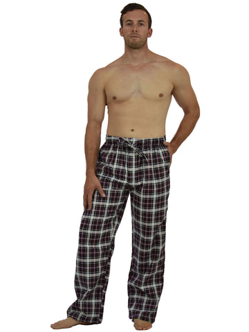 Men's Lounge Pants / Pajama Bottoms / Sleep Pants, 100% Cotton Flannel