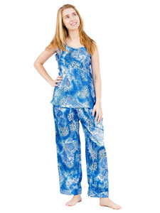 Women's Pajama Set / Pajamas / Pyjamas / PJs, Satin, Cami Top, Various Prints