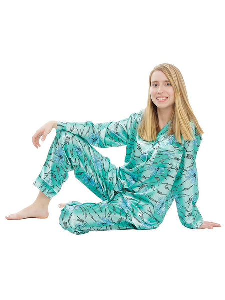 Women's Pajama Set / Pajamas / Pyjamas / PJs, Satin, Various Prints