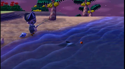 Catching fish at Island Resort in Animal Crossing: New Leaf