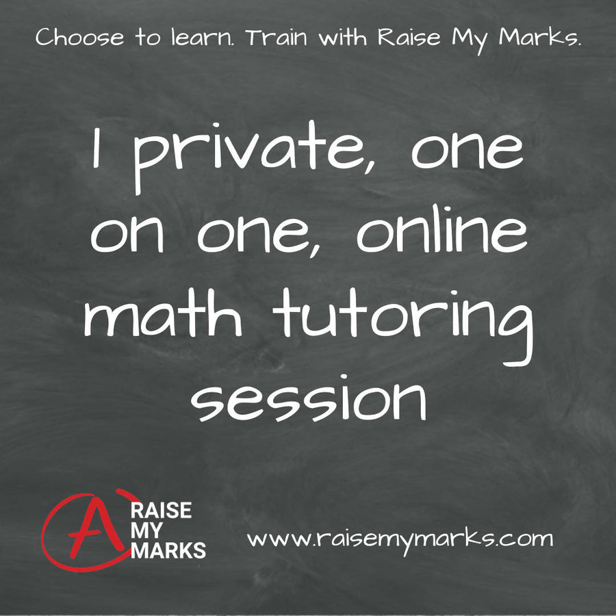 1 private math tutoring session (60 mins/session)
