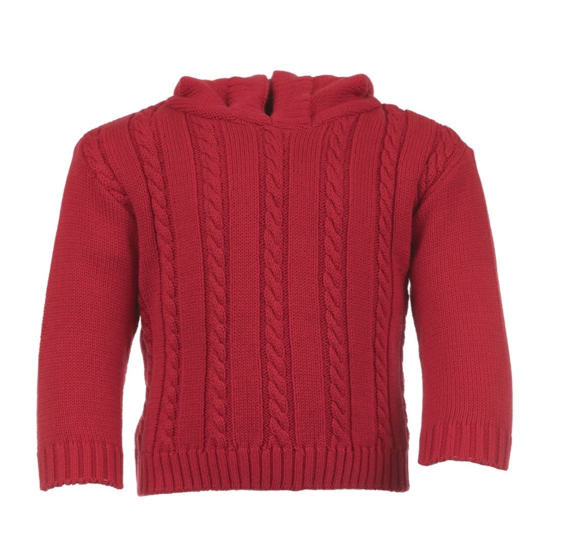 Cable Zip Back Sweater