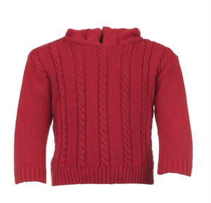 Open image in slideshow, Cable Zip Back Sweater