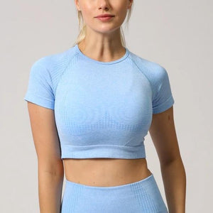 Cloud Short-Sleeve Cropped Top - Saints Active