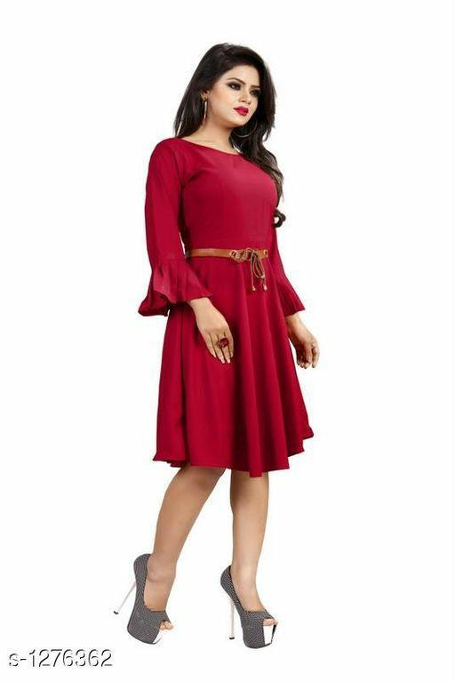 Gorgeous American Crepe Solid Women's Dresses Vol 1