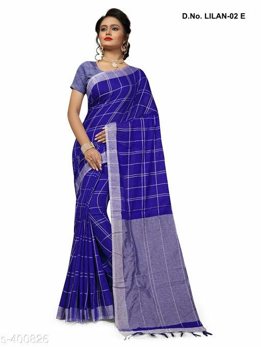 Pallavi Spun Linen Checkered Sarees Vol 1