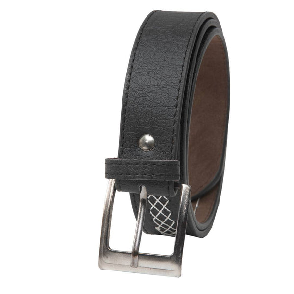 Winsome Deal Casual Black Artificial Leather Belt For Men's