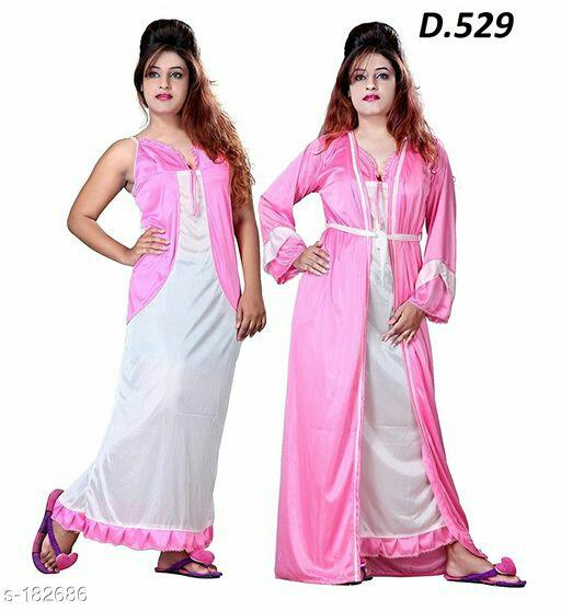 Women's Satin Nightwear Combo Vol 1