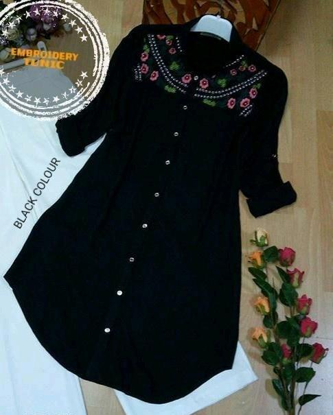 Ladies Rayon Embroidered Tunics