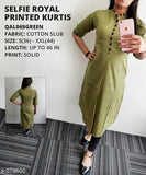 Selfie Royal Printed Kurtis