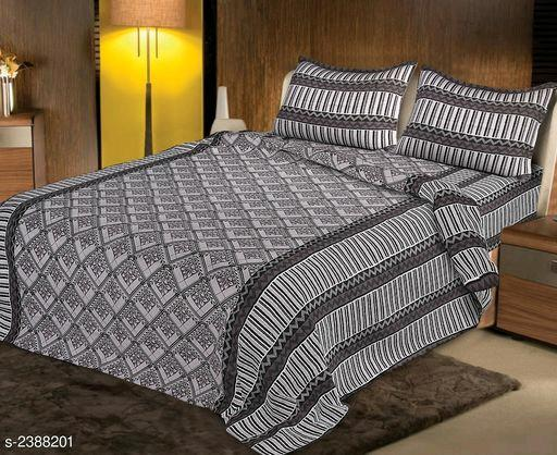 Elite Designer Pure Cotton Printed Double Bedsheets Vol 17