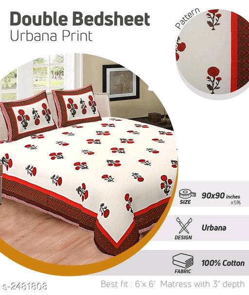 Riya Dream Home Modern Cotton Double Bedsheets Vol 3