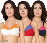Trendy Women's Cotton Blend Solid Bras Combo Vol 1