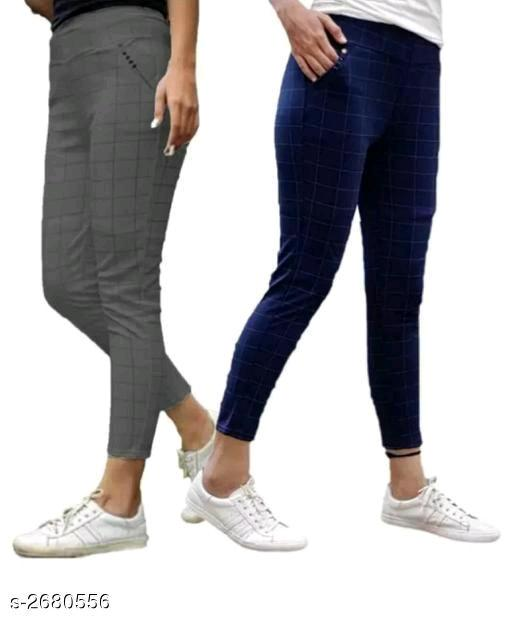 Athena Fashionable Cotton Lycra Jeggings Combo Vol 1