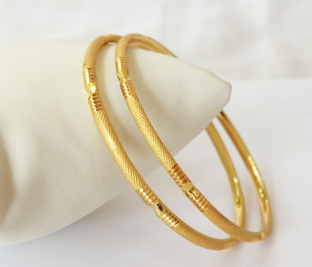 Gold Plated Forming Pipe Bangle